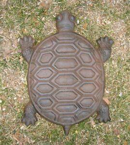 Turtle-Stepping-Stones-Set-of-6-Cast-Iron-Rust-Finish