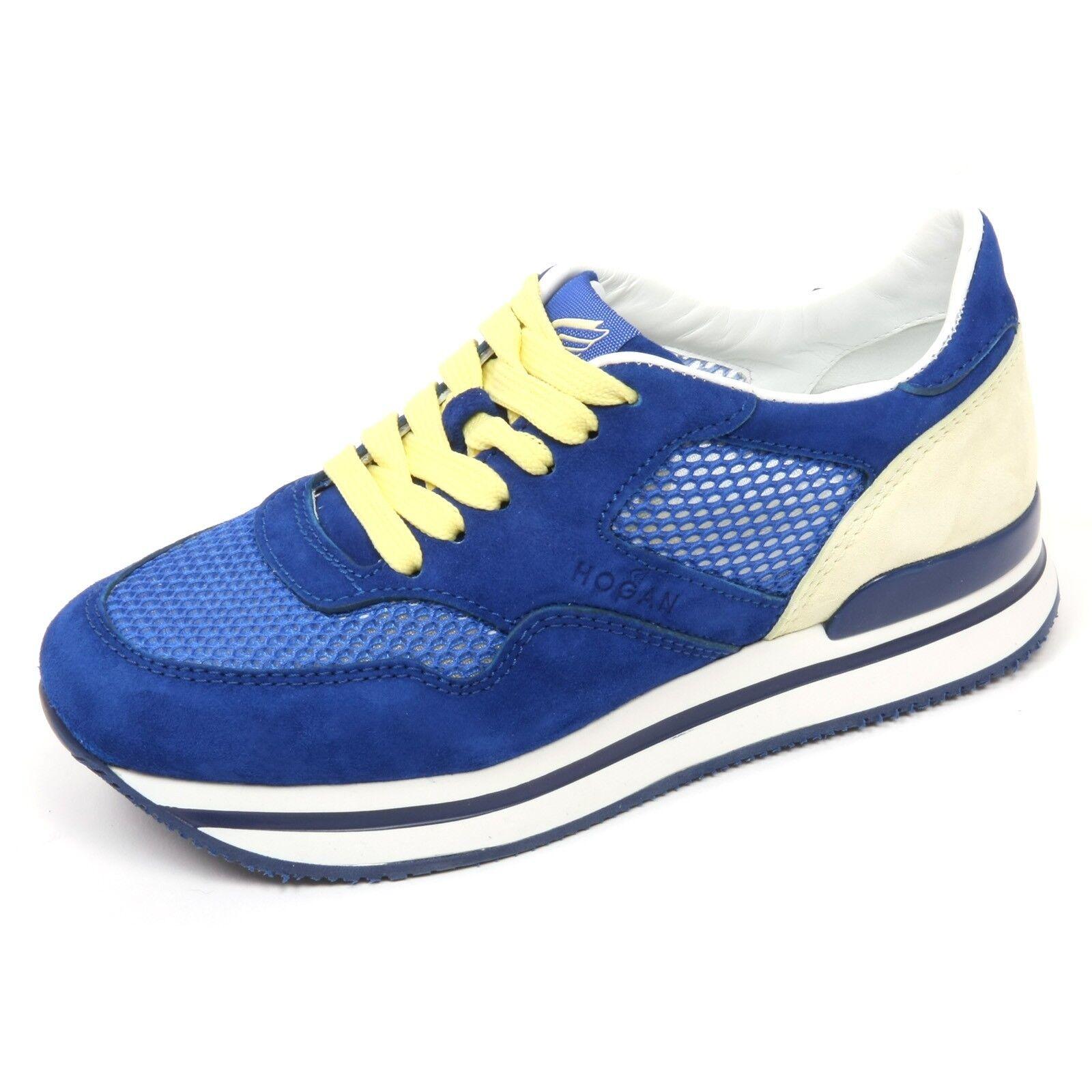 c7898 sneaker donna hogan h222 scarpa bluette crema shoes woman f9b4e0864b6