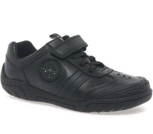 Nouveau Infant Raid Taille Wing Chaussures Cuir Garçons pour Noir en Clarks 8c wIBHwxF