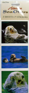Acid-Free-Alaska-Theme-Stickers-Sea-Otters-cute-New-In-Package-sticker-set