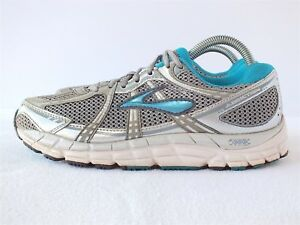 24b4c95cf80 Brooks Addiction 11 Women s Running Shoes Silver P Gray  Shadow Size ...