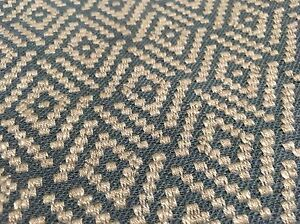 Colefax Fowler Geometric Diamond Upholstery Fabric Milne Blue 0 95