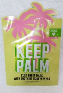 2cd1bfea53da4 Details about Victoria's Secret KEEP PALM Clay Sheet Mask Soothing  Honeysuckle .5 oz/15g New