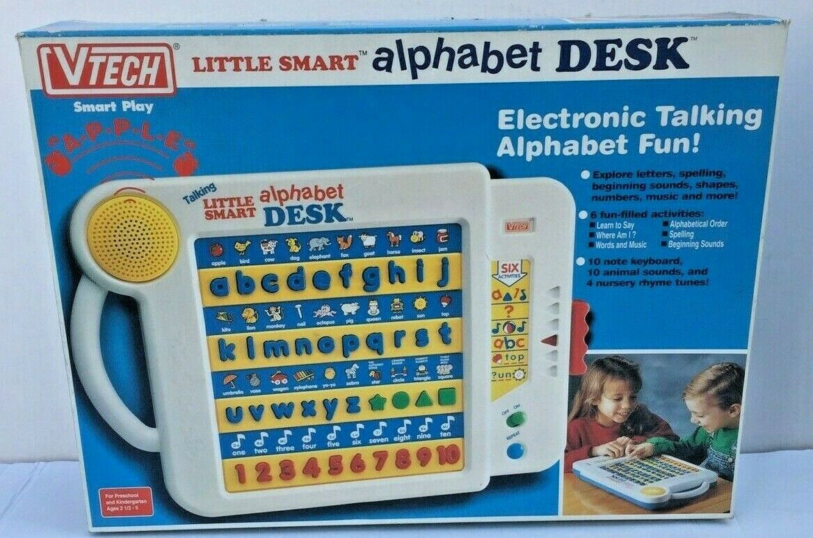 NEW Vtech Little Smart Alphabet Desk Electronic Talkig Alphabet Fun
