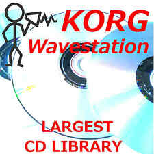 Korg Wavestation EX SR AD Legacy 10000 Largest Library Sound Program Patch CDROM