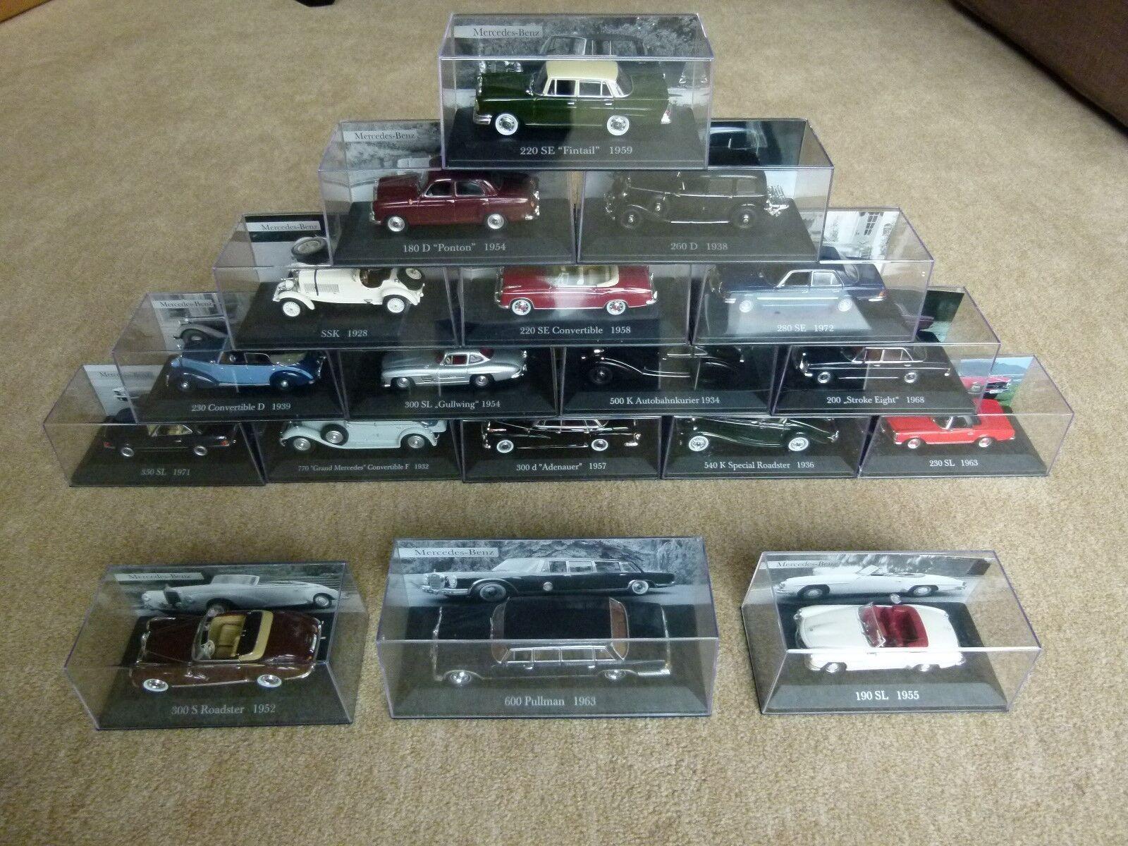 18 modèle voitures voitures voitures Mercedes Collection De Agostini modèle 600 pullFemme ssk 350 sl 540 K | De Grandes Variétés  269e5a