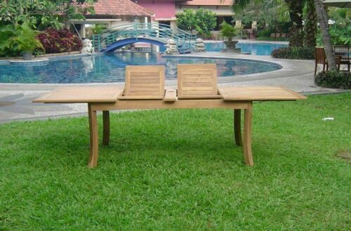 """11-Pc Outdoor Teak Dining Set: 117"""" Rectangle Extn Table, 10 Arm Chairs Maldives 9780811423717"""