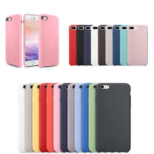 Cover-Funda-de-Silicona-para-Apple-IPHONE-6-6S-7-8-Plus-Case-Rigido-Atras