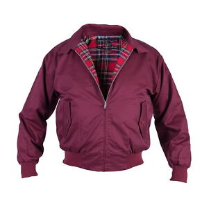 Details about Harrington Jacket English Style Mens Blouson scooterjacke Bomber Jacket Bordeaux show original title