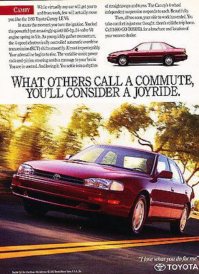 Original Advertisement Car Print Ad J313 smoother quieter 1997 Toyota Camry