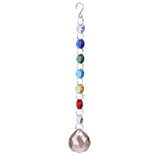 Colorful Octagonal Beads Crystal Pendant Suncatcher Prisms Hanging Jewelry Gift
