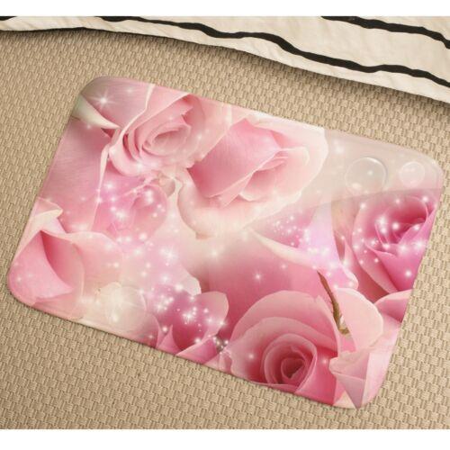 Roses Soft Absorbent Foam Non-slip Bathmat Bedroom Rug y41 y0360