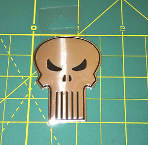 "The Punisher Sticker Classic Skull Marvel Comics Metallic 2.00""  Licensed - NEW"