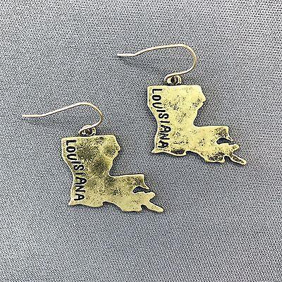 State Stud Earrings Louisiana Earrings 925 Sterling Silver Louisiana Jewelry