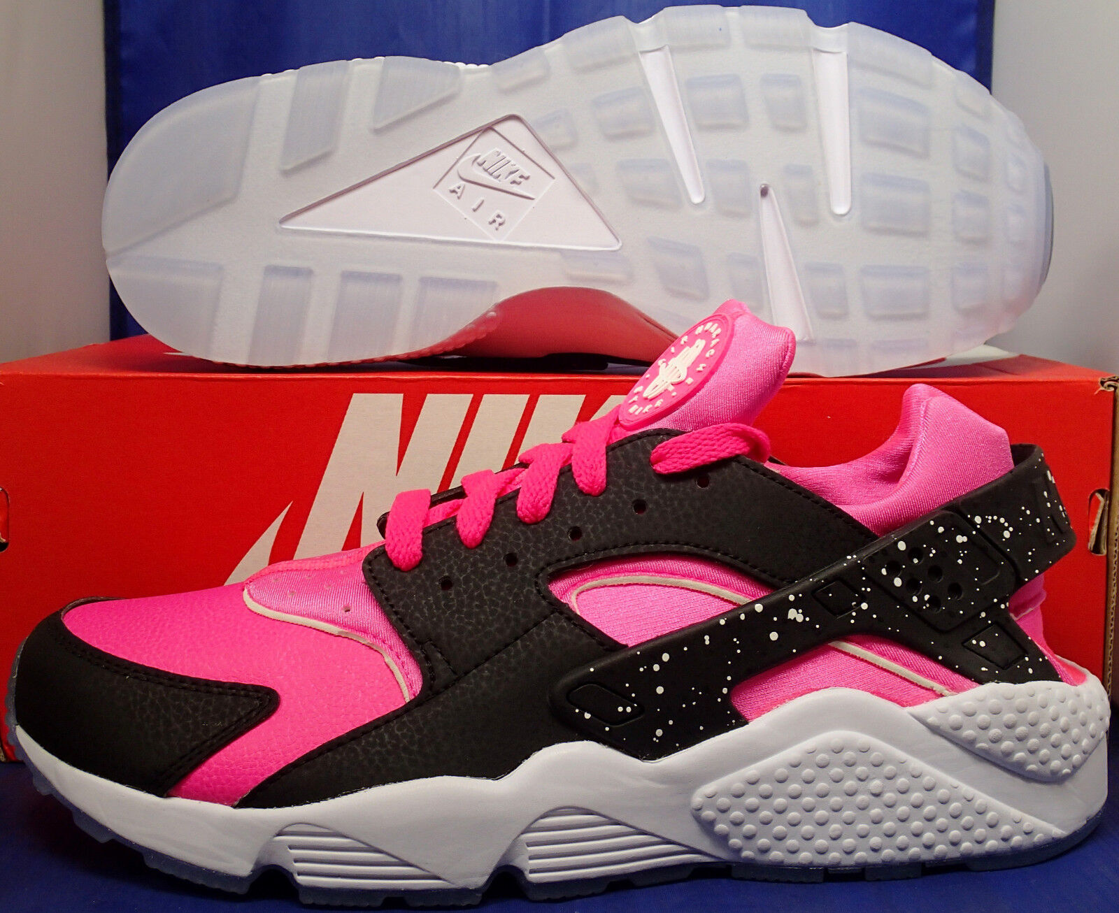 cf4c065752e4 durable service Womens Nike Air Huarache Run iD Black White Pink SZ 12     Mens