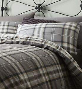 Catherine-Lansfield-Kelso-Easy-Care-Duvet-Cover-Set-Charcoal-S-D-K