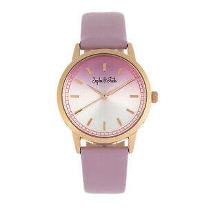 Sophie-and-Freda-San-Diego-Leather-Band-Watch-Pink