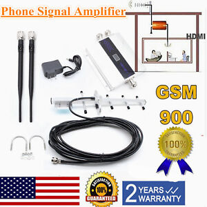Details about GSM 900MHz Mobile Cell Phone Signal Booster Repeater  Amplifier +Yagi Antena Kits