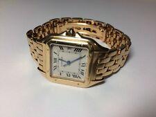 Cartier Large Panthere 18k Yellow Gold Quartz Mens Watch , FREE SHIP