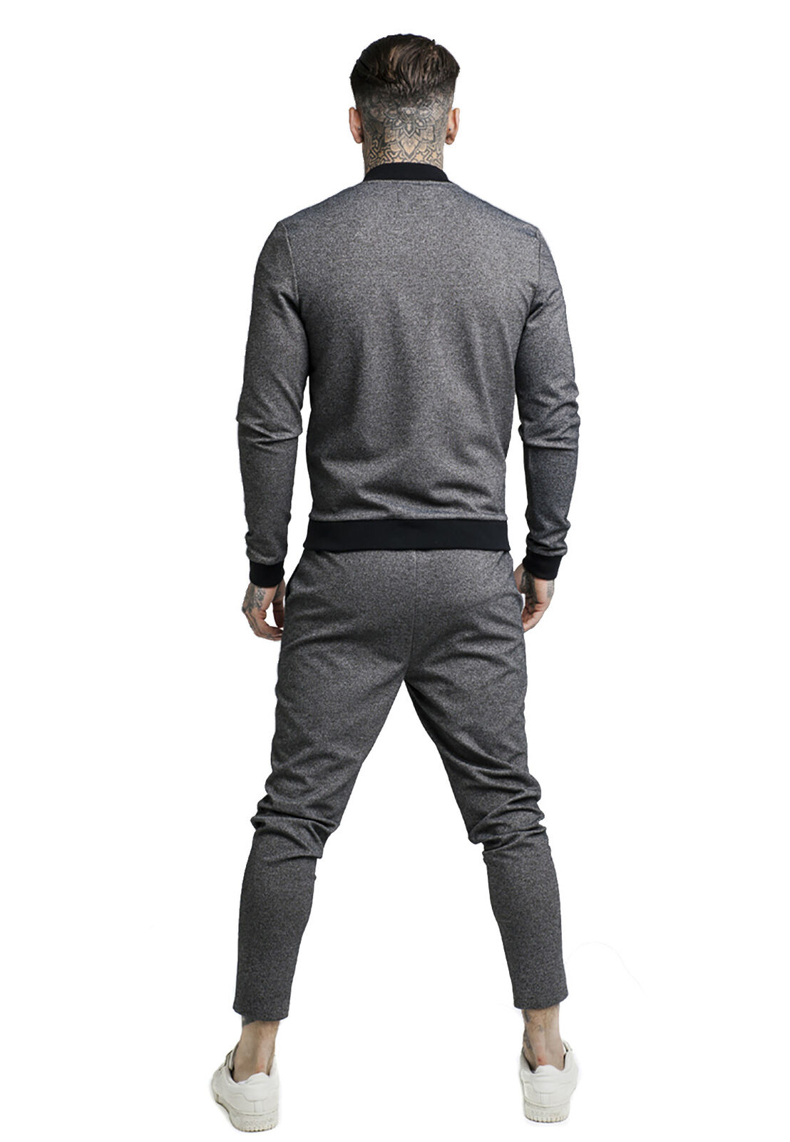 Siksilk Jogger Uomo Tech Tweed ULTRA cropped taped Pant Pant Pant ss-13985 GRIGIO grigio 949d1a