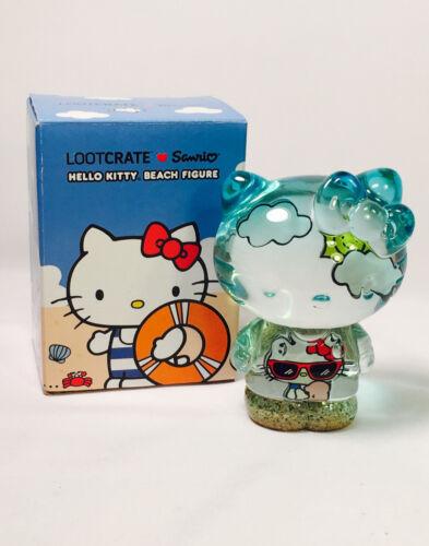 HELLO KITTY Transluscent Sandy Beach Figure Hello Kitty Sanrio Loot Crate
