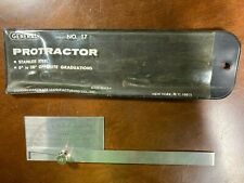 Vintage Tool General Hardware Mfg Co No 17 Machinist Protractor W Case