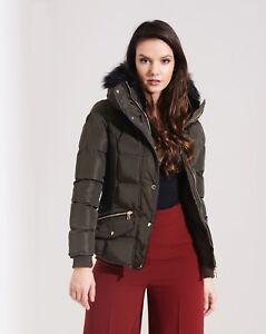 Winter Fashion Trækul Jacket skole er til Girl tilbage Puffa Hooded Khaki Hnn7gFCw8