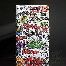 Sony Xperia Miro ST23i Case Schutz Hülle Klapp Etui Cover Flip Motiv Comic HAHA