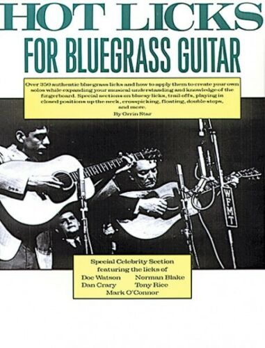 Hot Licks for Bluegrass Guitar Sheet Music Book NEW 014015430