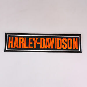 Harley-Davidson-Motor-Cycles-Large-Bar-Embroidered-Patch-Iron-On-11x2-7-034-28x7Cm