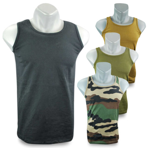 Cotton Sleeveless Sports Training Gym Army Military Tank Top Vest T-Shirt Top