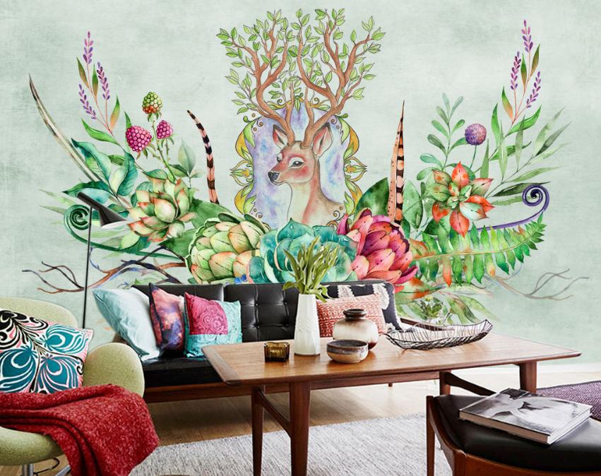 3D Flowers 575 Wallpaper Murals Wall Print Wallpaper Mural AJ WALL AU Lemon