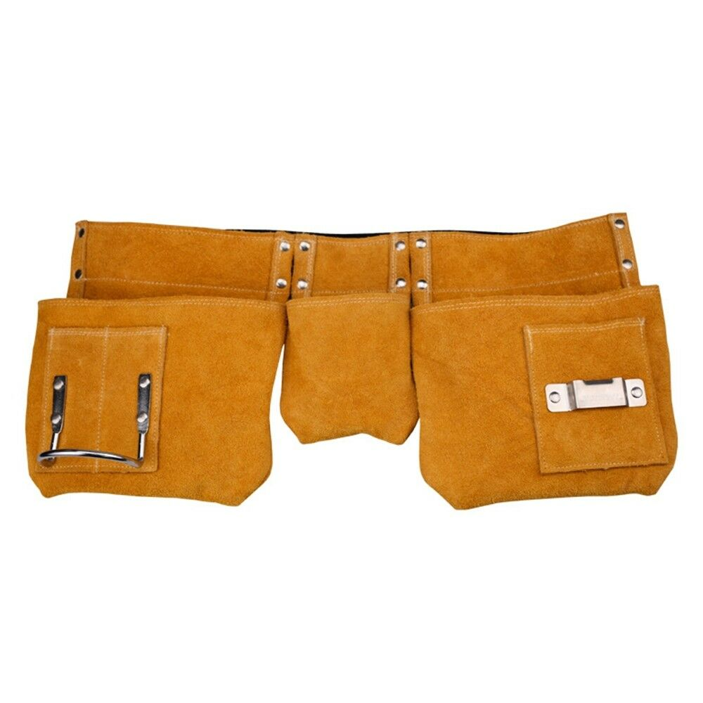 AS Work Bag Tool Pouch Leather Belt Electrician Maintenance Carpenter Woodworker