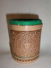 Cubilete Leather Dice Cup Play Casino Traditional Game Handtooled In Mexico