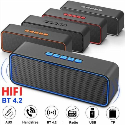 Tragbar Bluetooth Lautsprecher 3D Stereo Soundbox Wireless Subwoofer TF Musikbox
