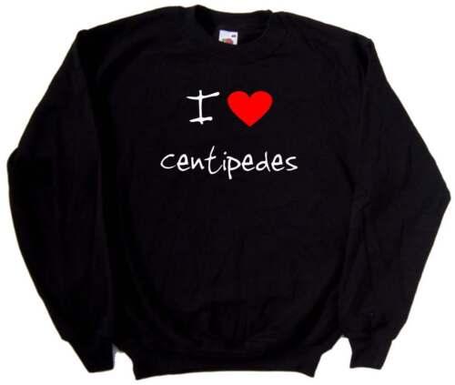 I Love Heart Centipedes Sweatshirt