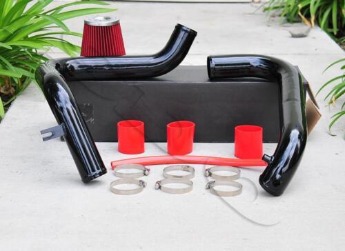 "Black Cold Air Intake 2.5/"" Red Air Filter For Honda Civic 2001-2005 DX LX 1.7L"
