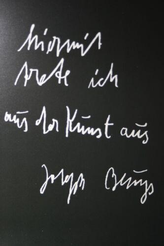 """Originalgrafik /""""trete aus/"""" mit Rahmen und Passepartout JOSEPH BEUYS"""