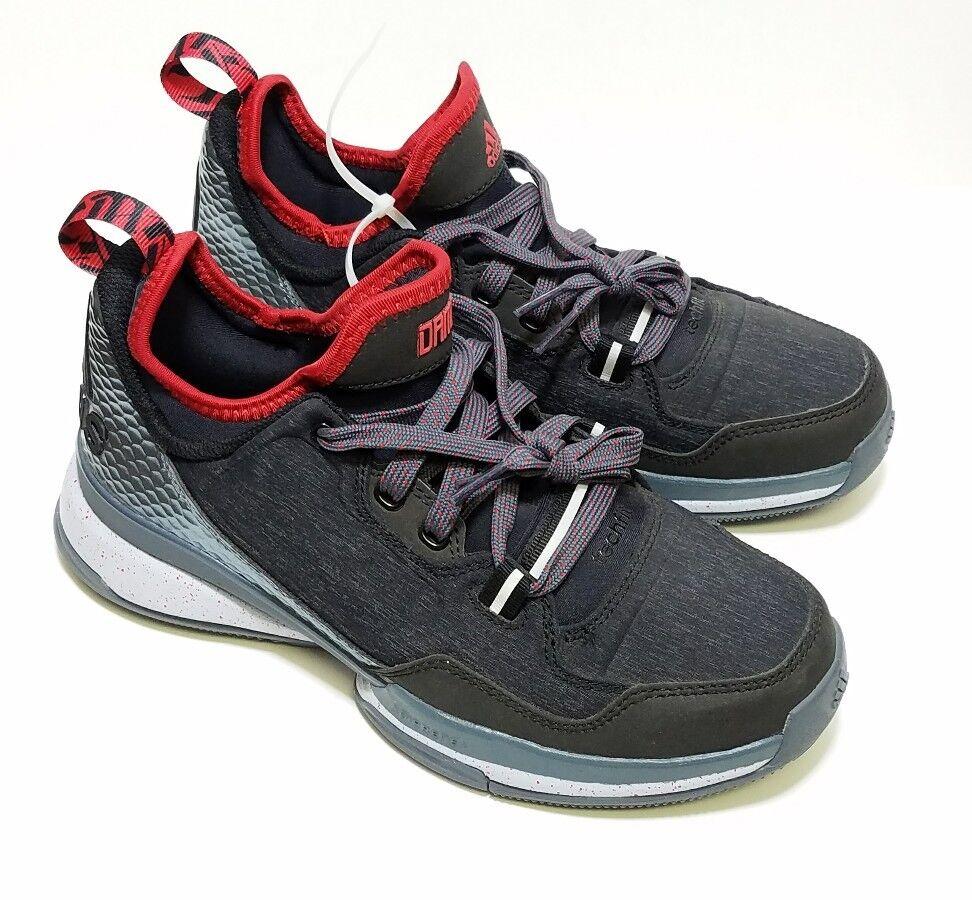 timeless design ab291 39bbf ADIDAS D Lillard Black Grey Reflective Reflective Reflective Basketball Shoe  Sneakers NEW Mens 5.5 64a2d1