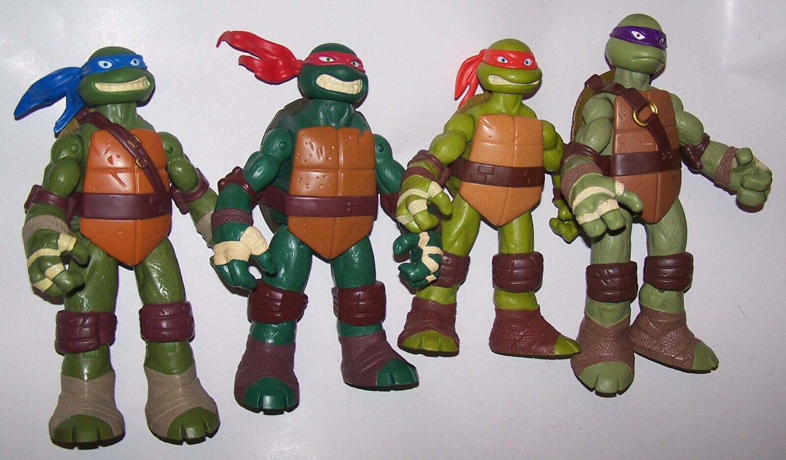 4 2012 TEENAGE MUTANT NINJA TURTLES Battle Shell Action Figures 11  Tall
