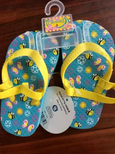 5t to 12 CHATTIES TODDLER /& LITTLE  GIRL ADORABLE FLIP FLOPS WITH BACK STRAPS