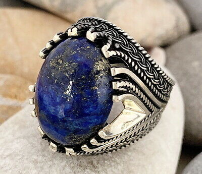 Natural Lapis Women Jewelry 925 Sterling Silver Ring Size 10 im36919