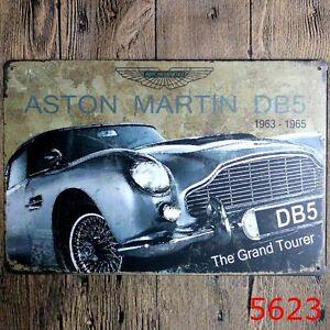 metal tin sign aston martin db5 bar pub home vintage retro poster cafe art ebay. Black Bedroom Furniture Sets. Home Design Ideas