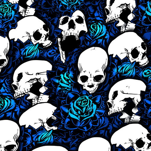 Set of 4 Blue Skull Shock Covers Polaris Youth Ranger RZR 170 Side by Side New