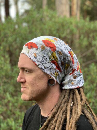 Summer bloom Dreadlock Headband dread sock wrap turban scarf sleep cap hat locs