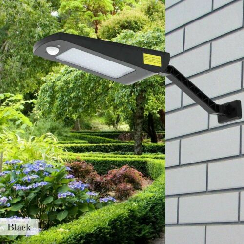 Super Bright LED Solar Lights PIR Motion Sensor Wall Lamp Remote Control Outdoor