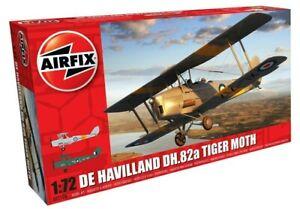 AIRFIX-1-72-DE-HAVILLAND-DH-82A-Tiger-Moth-modele-d-039-avion-kit-avion-A02106