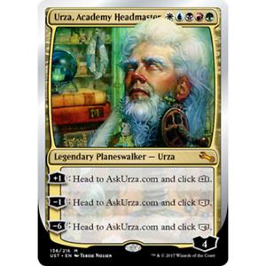 Urza MTG UNSTABLE Academy Headmaster foil