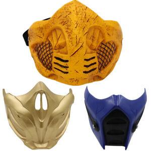 Mortal Kombat 11 Sub Zero Scorpion Mask Cosplay Costume Resin