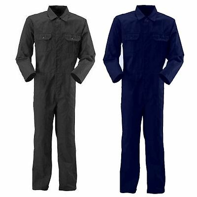 STUD Boiler Suit Overalls Black Navy Mens Work Coveralls  Mechanics  College